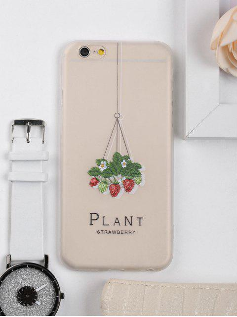 affordable Strawberry Pattern Phone Case For Iphone - CLEAR WHITE FOR IPHONE 6 / 6S Mobile