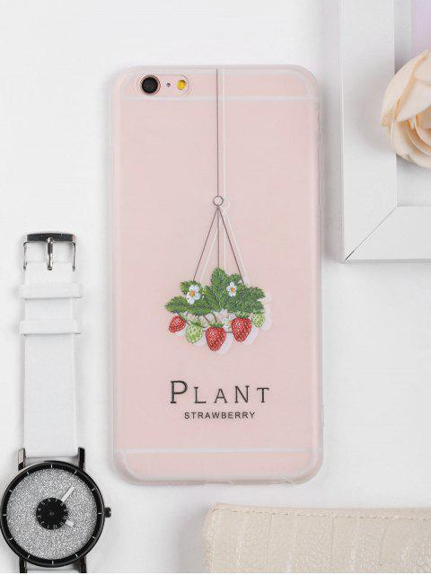 buy Strawberry Pattern Phone Case For Iphone - CLEAR WHITE FOR IPHONE 6 PLUS / 6S PLUS Mobile