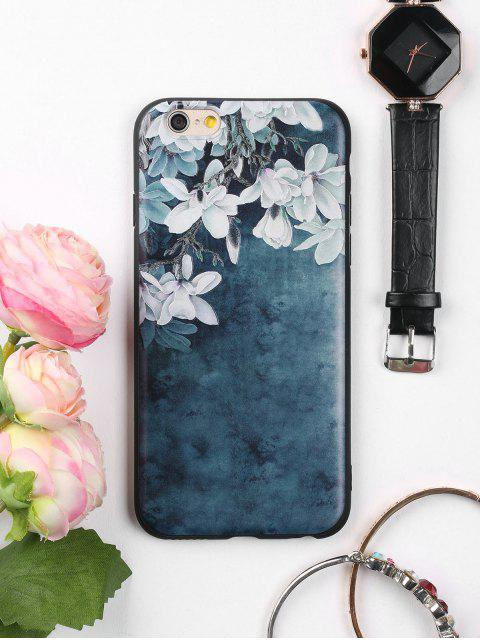 women's Flowers Pattern Soft Phone Case For Iphone - INK BLUE FOR IPHONE 6 / 6S Mobile