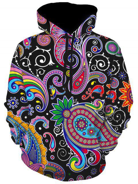 Sudadera con capucha de impresión de Paisley del bols - Colormix 3XL Mobile
