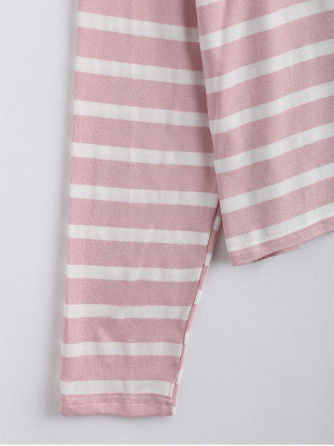 Drop Shoulder Striped Long Sleeve Tee