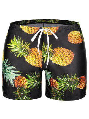 Badehose mit Taschen und Ananas Drucken