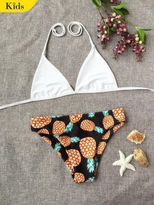Halter Pineapple Print Kid Bikini