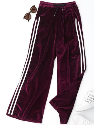 Side Stripe Velvet Pants