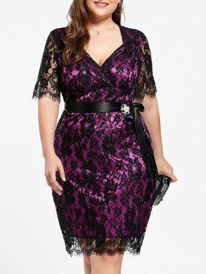 Lace Plus Size Formal Party Dress