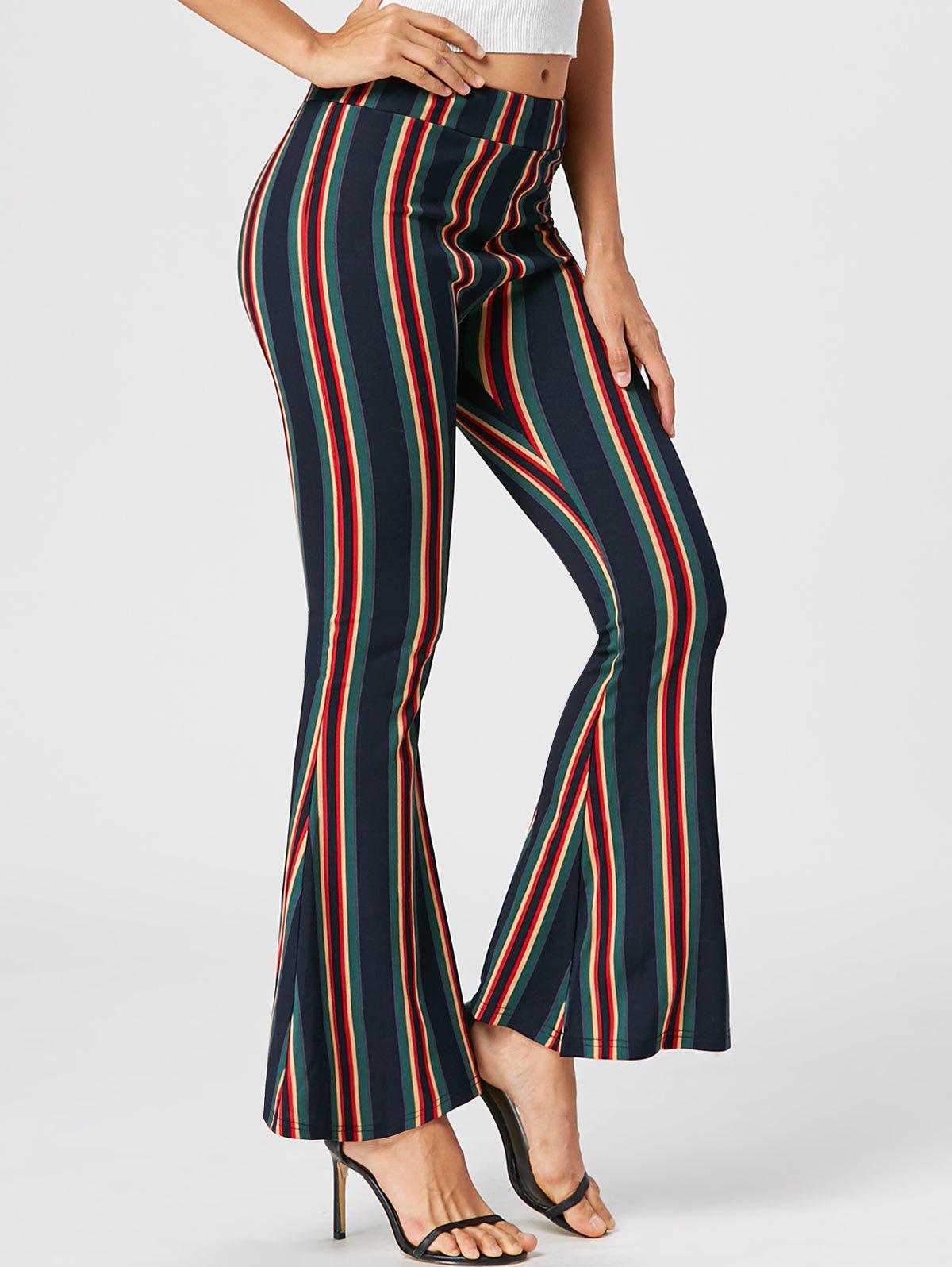 Pantalons à flan rayé