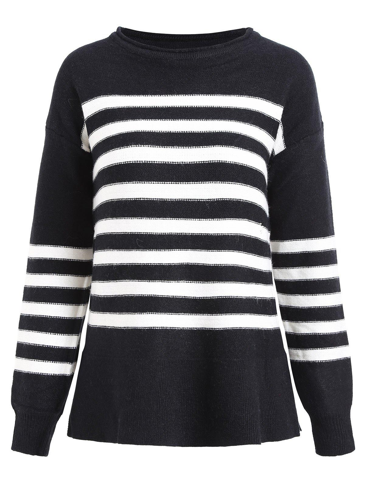 Pullover Striped Knit Sweater 224505202