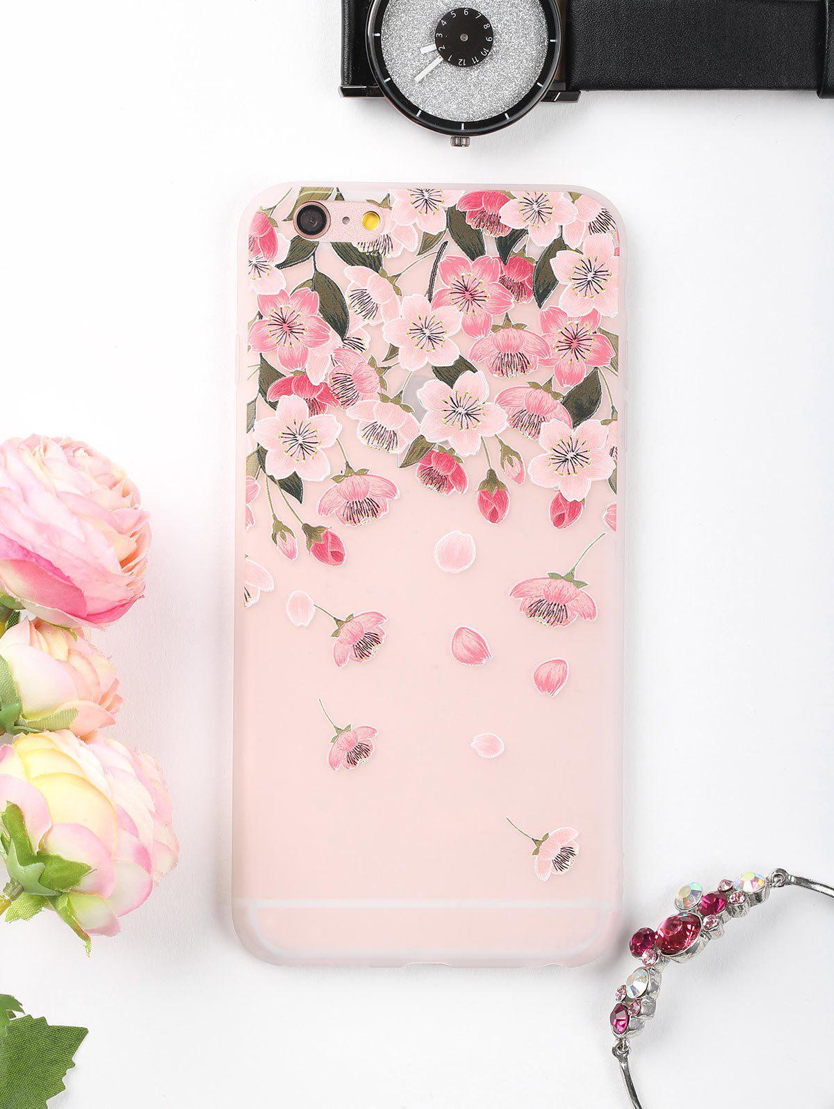 Étui de téléphone à motif de fleurs pétales pour iphone