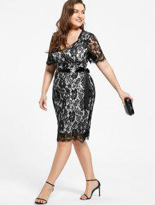 Lace Plus Size Formal Party Dress