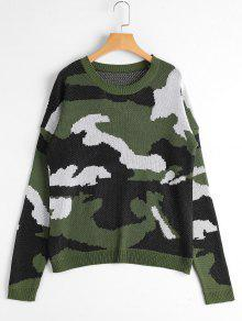 Pull Camo Col Rond - Camouflage Acu