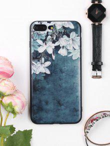 Flores Patrón De La Caja De Teléfono Suave Para Iphone - Azul Tinta Para Iphone 7 Plus