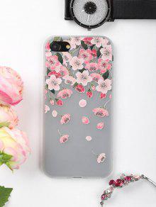 الزهور بتلات نمط حالة الهاتف لفون - زهري على اي فون 7