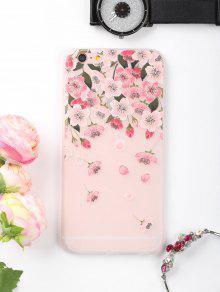 الزهور بتلات نمط حالة الهاتف لفون - زهري آيفون 6 Plus / 6s Plus