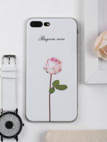 روز زهرة نمط حالة الهاتف لفون - أبيض ل Iphone 7 Plus