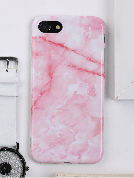 buy Marble Pattern Cell Phone Case For Iphone - PINK FOR IPHONE 7