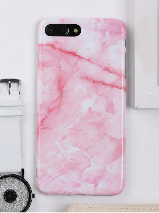 womens Marble Pattern Cell Phone Case For Iphone - PINK FOR IPHONE 7 PLUS