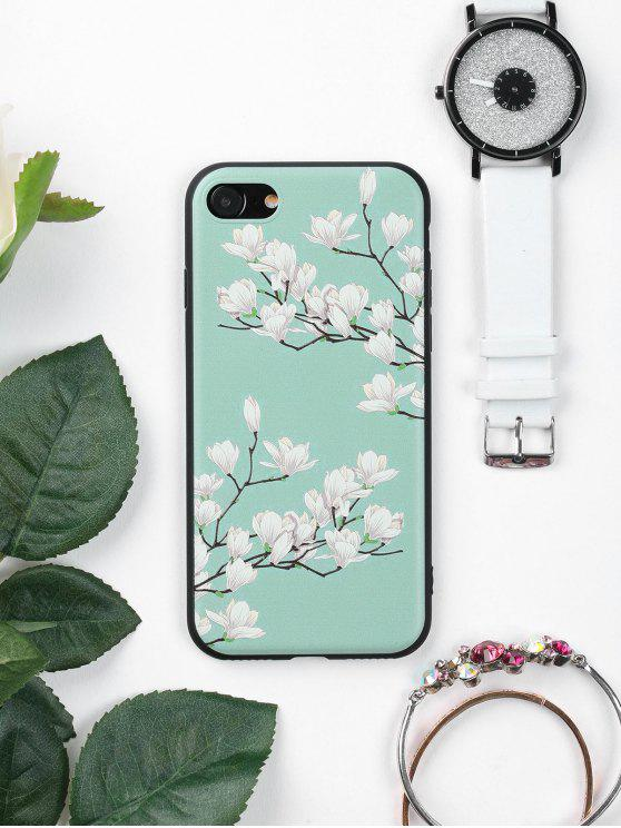 new Tree Flower Pattern Phone Case For Iphone - GREEN FOR IPHONE 7