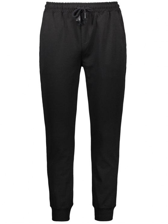 affordable Drawstring Casual Jogger Pants - BLACK XL