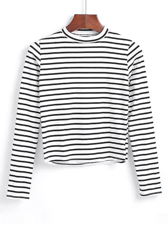 19% OFF  2019 Long Sleeve Stripes Layering Top In WHITE ONE SIZE  6a9bdc1bf