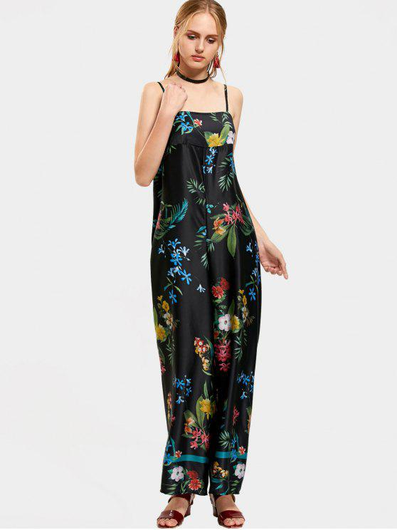 gutes Geschäft große Auswahl Online-Einzelhändler Floral Tropical Wide Leg Jumpsuit FLORAL