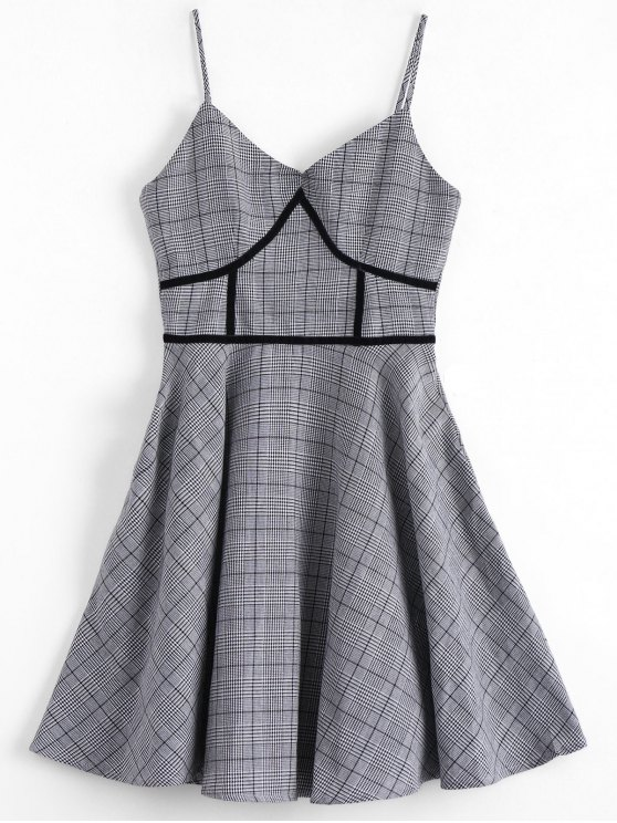Houndstooth Slip Dress - Xadrez XL