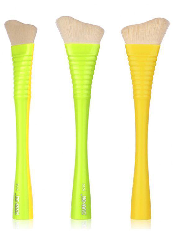 1 قطع ماكياج غير منتظم منفوش استحى فرشاة - أصفر + أخضر