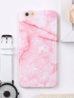 Marble Pattern Cell Phone Case For Iphone - Pink For Iphone 6 / 6s