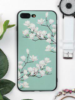 Tree Flower Pattern Phone Case For Iphone - Green For Iphone 7 Plus