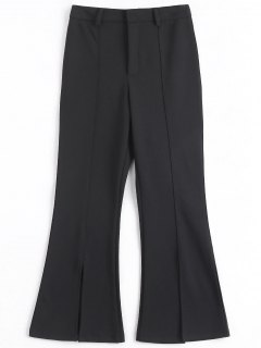 Slit Bootcut Pants - Black Xl