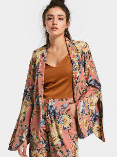 Open Sleeve Floral Blazer - Floral M