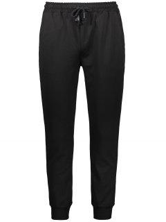 Drawstring Casual Jogger Pants - Black Xl