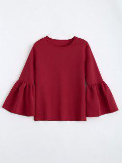 Flare Sleeve Boxy Top - Red M