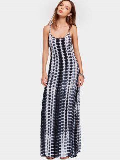 Slit Printed Open Back Cami Maxi Dress - Multi Xl