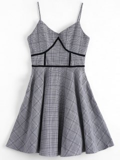 Houndstooth Slip Dress - Plaid Xl