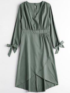 Robe Mi-longue à Fente - Vert Armée Xl