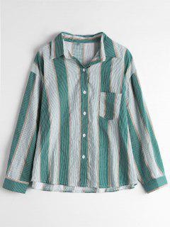 Chemise Rayée à Poche à épaule - Rayure