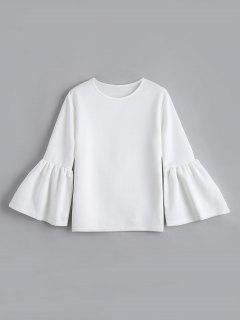 Flare Sleeve Boxy Top - White M
