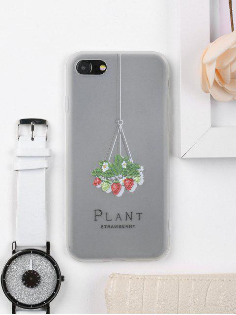 womens Strawberry Pattern Phone Case For Iphone - CLEAR WHITE FOR IPHONE 7 Mobile