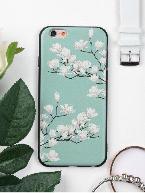 best Tree Flower Pattern Phone Case For Iphone - GREEN FOR IPHONE 6 / 6S Mobile
