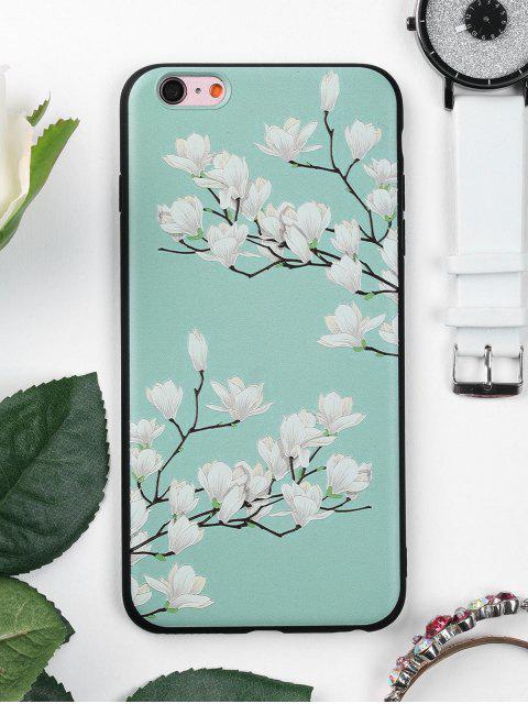 online Tree Flower Pattern Phone Case For Iphone - GREEN FOR IPHONE 6 PLUS / 6S PLUS Mobile