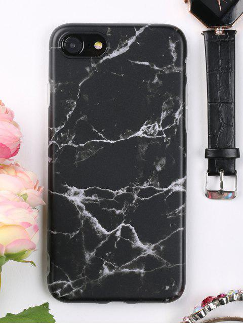 shop Marble Phone Case For Iphone - BLACK FOR IPHONE 7 Mobile