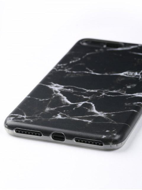 Marmor Telefon Fall für Iphone - Schwarz Für iPhone 7 PLUS Mobile