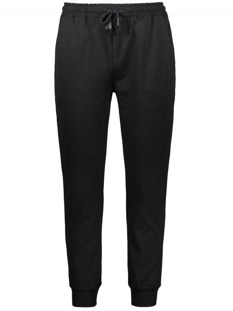 affordable Drawstring Casual Jogger Pants - BLACK XL Mobile