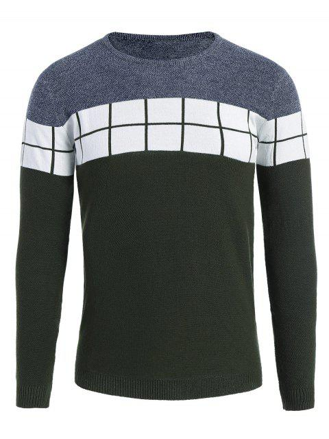 Farbblock Pullover - GREEN 2XL Mobile