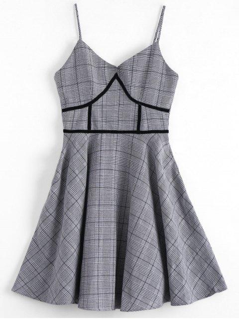 Houndstooth Slip Kleid - Plaid L Mobile