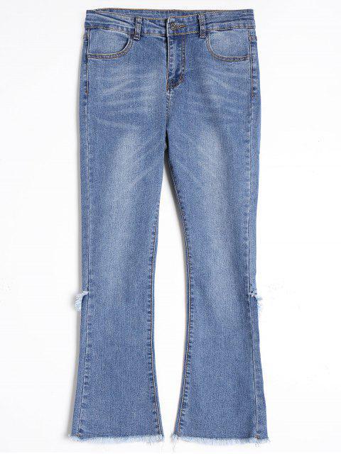 Pantalones vaqueros cortados de Boot - Azul M Mobile