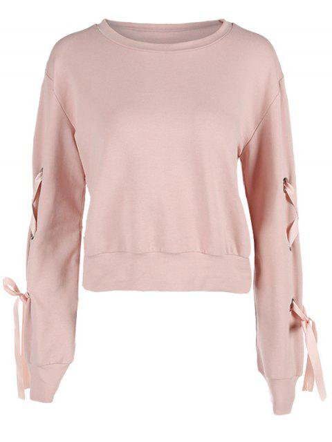 Sweatshirt mit Schnürung lange Ärmel - Pink M Mobile