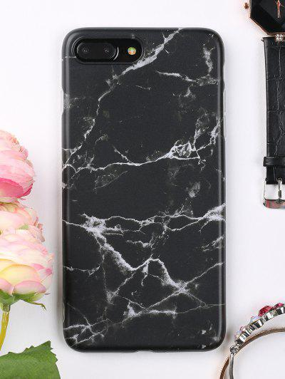 Marble Phone Case For Iphone - Black For Iphone 7 Plus