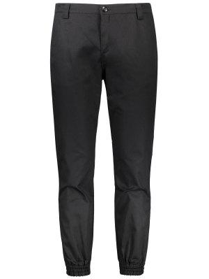 Patched Zipper Fly Jogger Pants
