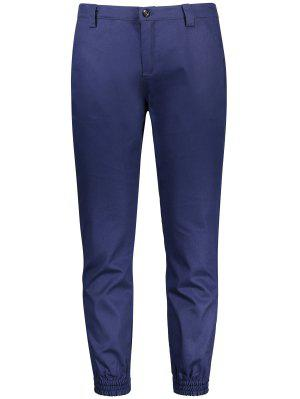 Zipper Fly Patched Jogger Pants